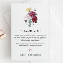 Load image into Gallery viewer, Floral Wedding Thank You Card - Pearly Paper