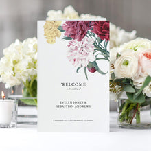 Load image into Gallery viewer, Floral Wedding ceremony Booklet - Pearly Paper