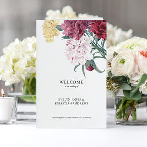 Floral Wedding ceremony Booklet - Pearly Paper