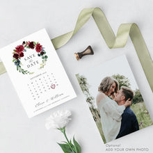 Load image into Gallery viewer, Floral Calendar Save the Date - Pearly Paper