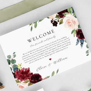 Wedding Timeline Marsala Wedding - Pearly Paper