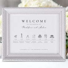 Load image into Gallery viewer, Order of Events Sign Wedding - Pearly Paper