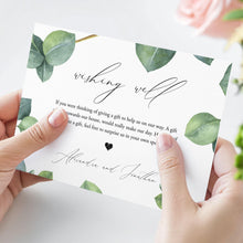 Load image into Gallery viewer, Greenery Wishing Well Card Wedding - Pearly Paper