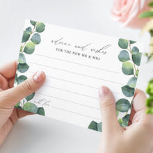 Load image into Gallery viewer, Greenery Wedding Advice card Well - Pearly Paper