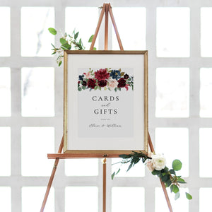 Cards and Gifts Sign Editable - Pearly Paper