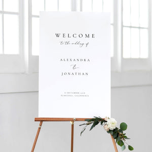 Welcome to our wedding sign - Pearly Paper