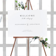 Load image into Gallery viewer, Modern wedding welcome sign Template - Pearly Paper