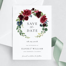 Load image into Gallery viewer, Floral Save the Date Invite - Pearly Paper