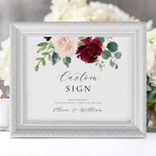 Load image into Gallery viewer, Custom Sign Template Printable Wedding - Pearly Paper