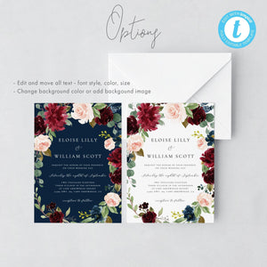 Custom Sign Template Printable Wedding - Pearly Paper