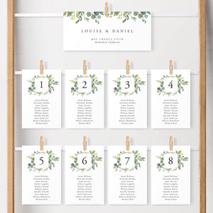Table Seating Chart Cards - Pearly Paper