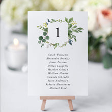 Load image into Gallery viewer, Greenery Table Number Seating Cards - Pearly Paper