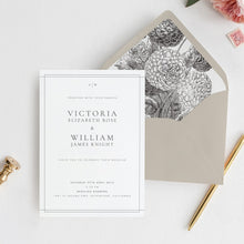 Load image into Gallery viewer, Classic Wedding Invitation Template Simple - Pearly Paper