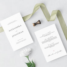 Load image into Gallery viewer, Wedding Program Booklet Modern - Pearly Paper