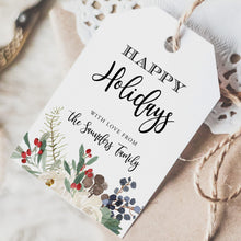 Load image into Gallery viewer, Printable Tag Happy Holidays Tag - Pearly Paper