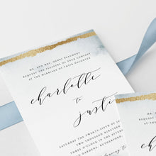 Load image into Gallery viewer, Winter woodland wedding invitation template - Pearly Paper