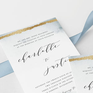 Winter woodland wedding invitation template - Pearly Paper