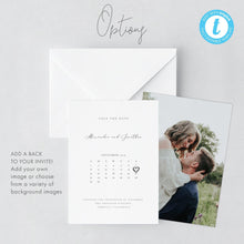 Load image into Gallery viewer, Modern Calendar Save the Date Invite - Pearly Paper