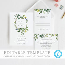 Load image into Gallery viewer, Printable Wedding Invitation Template Editable - Pearly Paper