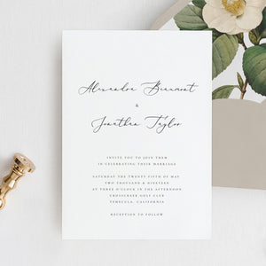 Modern Wedding Invitation Printable Template - Pearly Paper