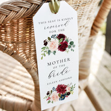 Load image into Gallery viewer, Floral Reserved Seating Tags - Pearly Paper