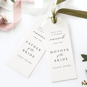 Wedding Seating Tag Reserved Seating - Pearly Paper