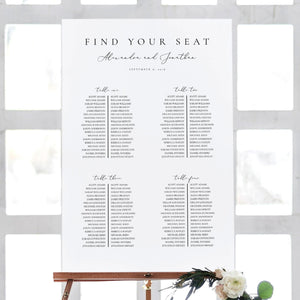 Wedding Seating Chart Template Modern - Pearly Paper
