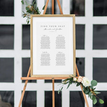 Load image into Gallery viewer, Wedding Seating Chart Template Modern - Pearly Paper