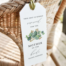 Load image into Gallery viewer, Eucalyptus Reserved Seating Tags - Pearly Paper