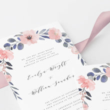 Load image into Gallery viewer, Rustic Wedding Invitation Template Floral - Pearly Paper