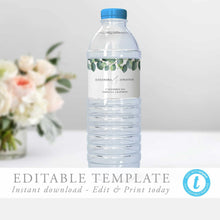 Load image into Gallery viewer, Water Bottle Wrapper Label Eucalyptus - Pearly Paper