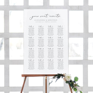 Table seating chart Sign Minimalist - Pearly Paper