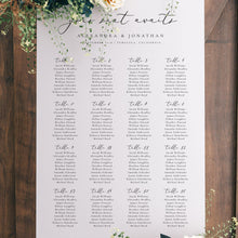 Load image into Gallery viewer, Table seating chart Sign Minimalist - Pearly Paper
