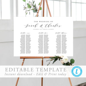 Seating Chart Sign Modern - Pearly Paper