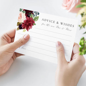 Advice and Well wishes Template - Pearly Paper
