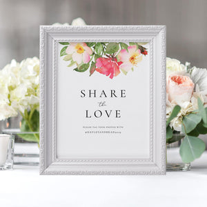 Share the love Sign Template - Pearly Paper