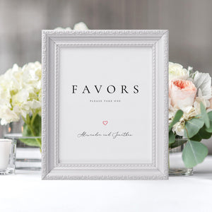 Favors Sign Wedding guests Favors - Pearly Paper