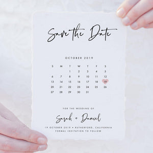 Save the Date Calendar Invitation - Pearly Paper