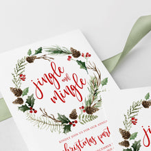Load image into Gallery viewer, Christmas Invitation Template Jingle and - Pearly Paper