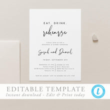 Load image into Gallery viewer, Wedding Rehearsal Dinner Modern - Pearly Paper