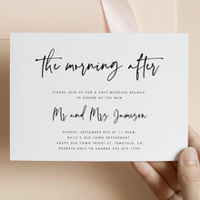 Load image into Gallery viewer, The morning After Brunch Invitation - Pearly Paper