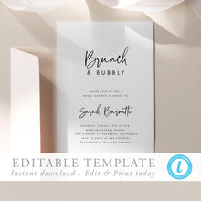 Load image into Gallery viewer, Bridal Shower Invitation Template - Pearly Paper