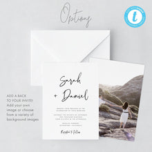 Load image into Gallery viewer, Modern Wedding Invitation Template download - Pearly Paper