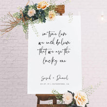 Load image into Gallery viewer, Wedding Welcome Sign Template Wedding - Pearly Paper