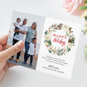Editable Christmas Card Template Photo - Pearly Paper
