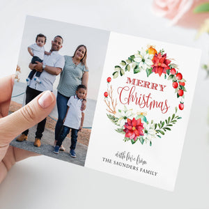 Christmas Card Template with Photo - Pearly Paper