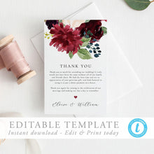 Load image into Gallery viewer, Thank You Card Floral - Pearly Paper