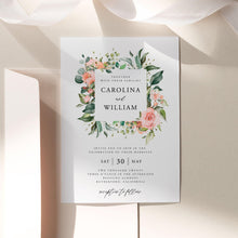 Load image into Gallery viewer, Floral Wedding Invitation Template Download - Pearly Paper
