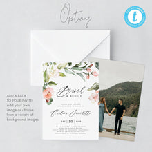 Load image into Gallery viewer, Floral Brunch and Bubbly Bridal Invitation - Pearly Paper