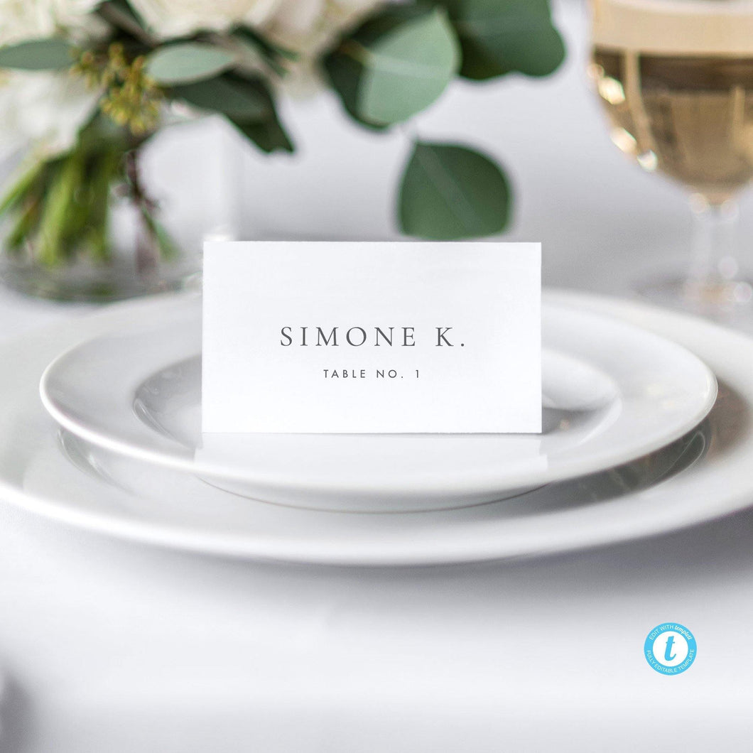 Elegant Place Cards Escort Cards - Pearly Paper
